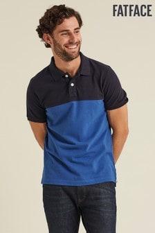 FatFace Blue Fowley Cut Sew Polo