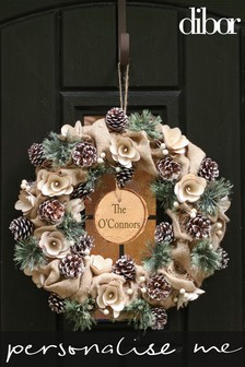 Personalised Country Jute Winter Wreath by Dibor