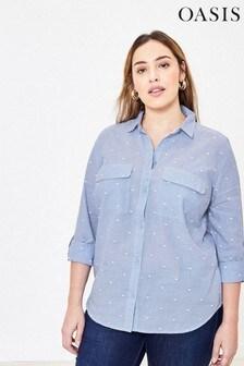 Oasis Curve Blue Heart Shirt