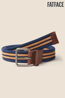 FatFace Mustard Brown Stripe Webbing Belt
