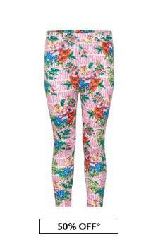 Moschino Baby Girls Pink Cotton Leggings