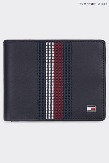 Tommy Hilfiger Black Stitched Leather Wallet