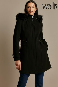 Wallis Black Duffle Coat