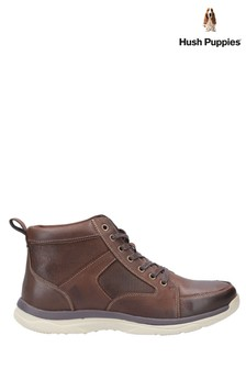 Hush Puppies Brown Newton Lace-Up Boots