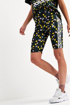 adidas Originals Black Bellista Printed Cycling Shorts