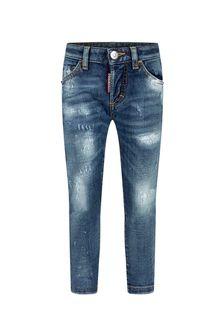 Dsquared2 Kids Boys Blue Cotton Jeans