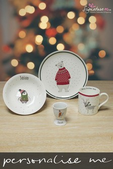Personalised Illustrated Animal Breakfast Set by Signature PG