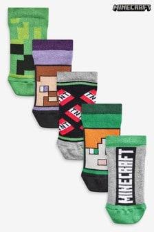 5 Pack Cotton Rich Minecraft Socks (Older)