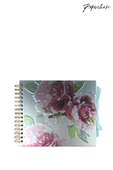 Paperchase Metallic Floral Scrapbook