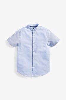 Short Sleeve Colourblock Oxford Shirt (3-16yrs)