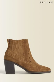 Jigsaw Brown Adrienne Suede Ankle Boots