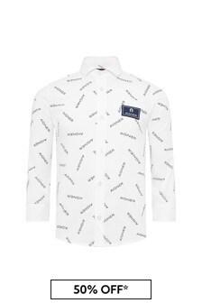 Aigner Boys White Cotton Shirt