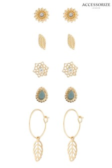 Accessorize Ethereal Green Stud Set