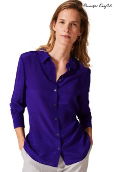 Phase Eight Purple Maeve Silk Shirt