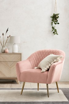 Hamilton  Armchair With Gold Legs