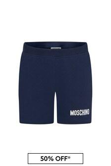 Moschino Kids Baby Boys Navy Cotton Unisex Shorts