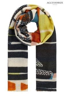 Разноцветный шарф с узором Accessorize Tokyo