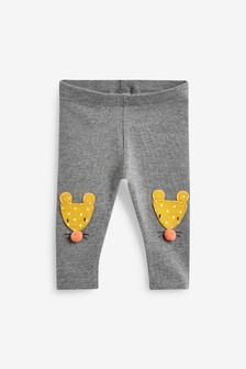 Mouse Embroidered Leggings (3mths-7yrs)