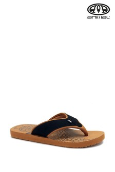 Animal Brown Swish Placement Flip Flops