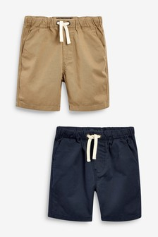 2 Pack Pull-On Shorts (3-16yrs)