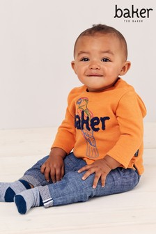 Baker by Ted Baker Baby Boys Orange Sweatshirt