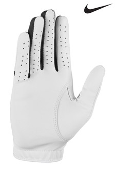 Nike Womens White RH Dura Feel Golf Gloves