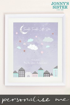 Personalised Little Star Nursery Printed Picture by Jonny's Sister