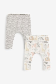 2 Pack GOTs Organic Stretch Leggings (0-12mths)
