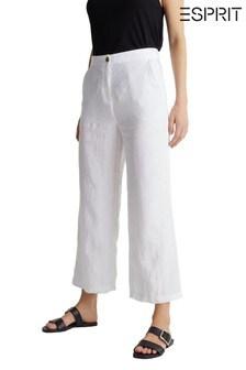 Esprit White Woven Culottes