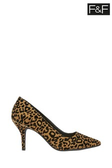 F&F Leopard Point Toe Courts