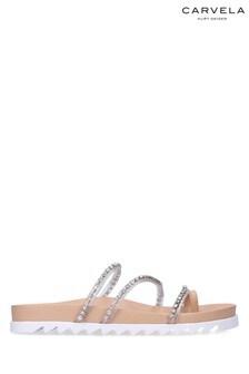 Carvela Nude Kalling Flat Sandals