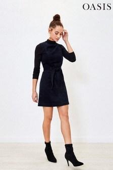 Oasis Blue Cord Shift Dress