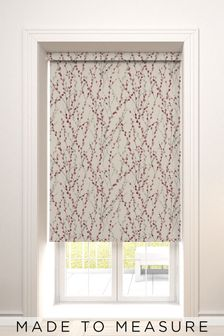 Delicate Willow Red Made To Measure Roller Blind