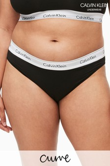 Calvin Klein Black Modern Cotton Plus Bikini Brief