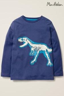 Boden Blue Glow In The Dark Bones T-Shirt