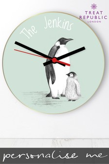 Personalised Wall Glass Clock by Treat Republic