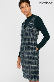 Monsoon Blue Talia Check Dress