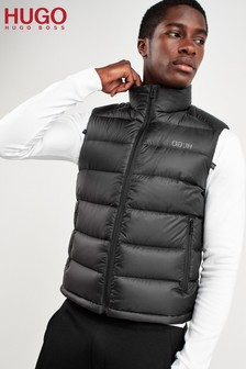 HUGO Black Baltino Padded Logo Vest