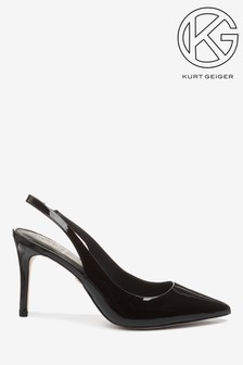 Kurt Geiger Arly Black Court Shoes