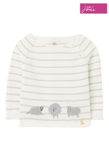 Joules Grey The Intarsia Knit Jumper