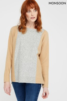 Monsoon Camel Katia Colourblock Jumper