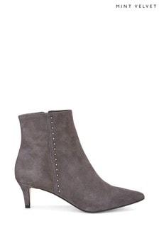 Mint Velvet Jodie Suede Stud Kitten Heel Boots