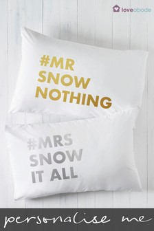 Personalised Mr And Mrs Pillowcases by Loveabode