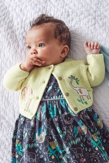 GOTs Organic Embroidered Cardigan (0mths-2yrs)