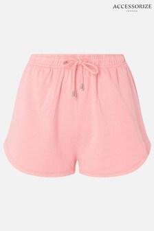 Accessorize Coral Plain Sweat Shorts
