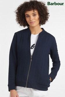 Barbour® Coastal Navy Textured Kelsey Bomber Jacket