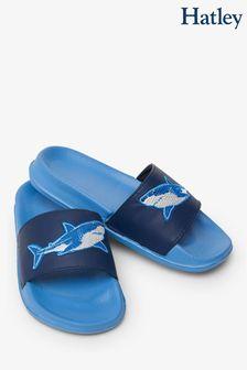Hatley Deep-Sea Sharks Slide On Sandals