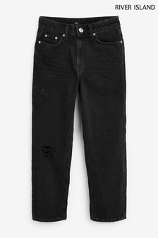 River Island Black Mom Cavana Jeans