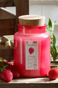 Strawberries & Cream Jar Candle