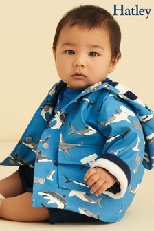 Hatley Deep-Sea Sharks Colour Changing Baby Raincoat